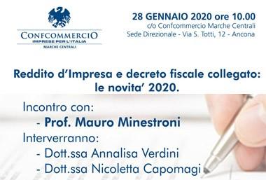 REDDITO D'IMPRESA E DECRETO FISCALE: LE NOVITA' 2020